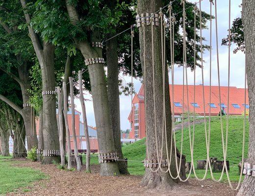 Tiefseilgarten an der Grundschule Ostrhauderfehn